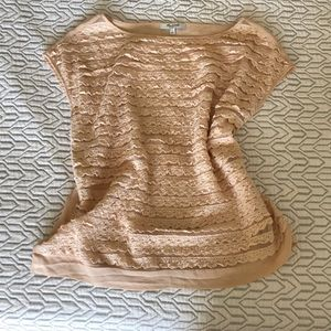 Madewell Silk Lace T-Shirt - Small EUC